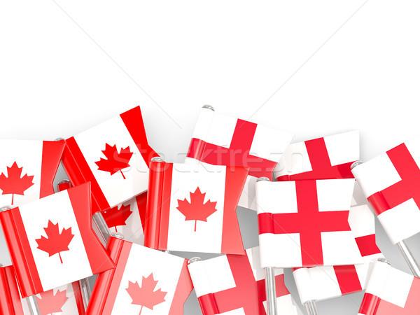 Zászló Anglia izolált fehér 3d illusztráció nyelv Stock fotó © MikhailMishchenko