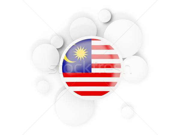 Round flag of malaysia with circles pattern Stock photo © MikhailMishchenko