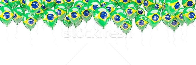 Balloons frame with flag of brazil Stock photo © MikhailMishchenko