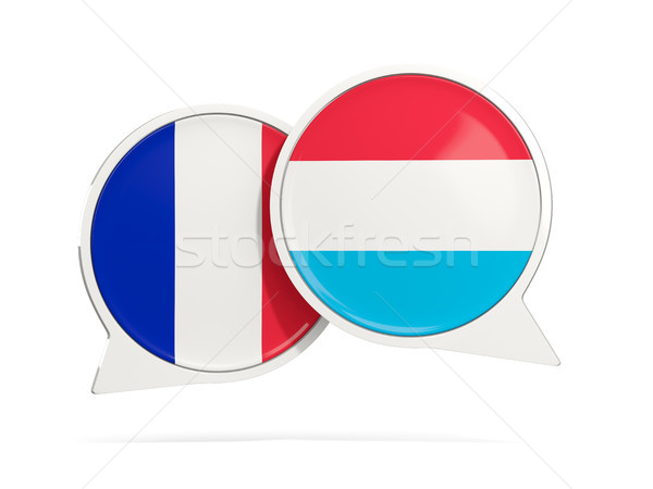 Chat bubbles of France and Luxembourg isolated on white Stock photo © MikhailMishchenko