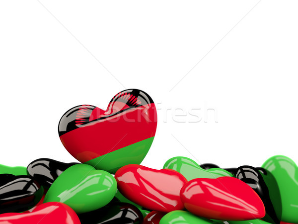 Heart with flag of malawi Stock photo © MikhailMishchenko