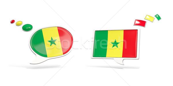 Kettő chat ikonok zászló Szenegál tér Stock fotó © MikhailMishchenko