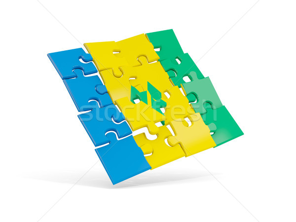 Puzzle flag of saint vincent and the grenadines isolated on whit Stock photo © MikhailMishchenko