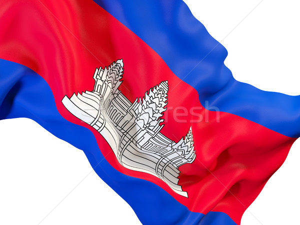 フラグ カンボジア クローズアップ 3次元の図 旅行 ストックフォト © MikhailMishchenko