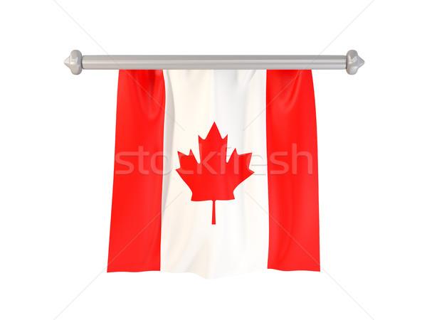 Bandeira Canadá isolado branco ilustração 3d etiqueta Foto stock © MikhailMishchenko