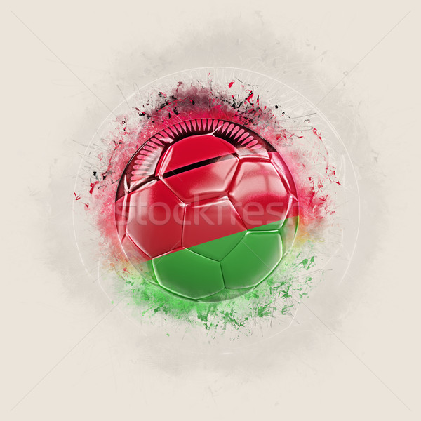 Grunge football with flag of malawi Stock photo © MikhailMishchenko