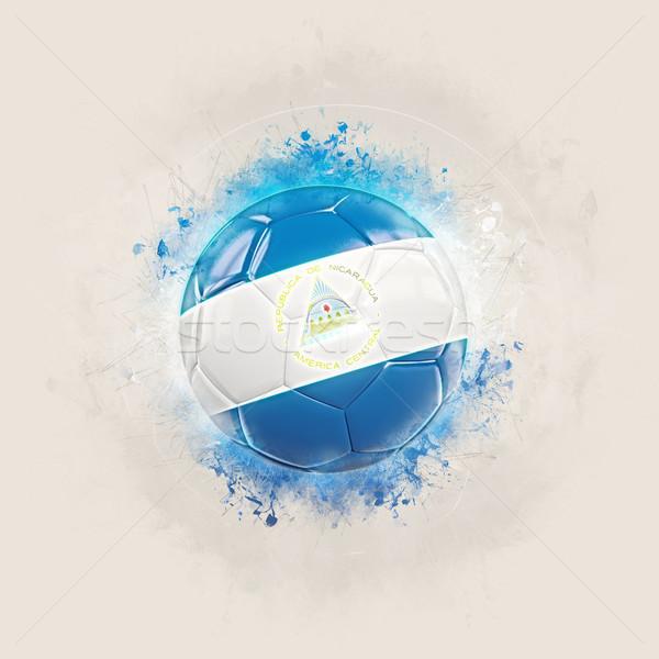 Grunge futball zászló Nicaragua 3d illusztráció világ Stock fotó © MikhailMishchenko