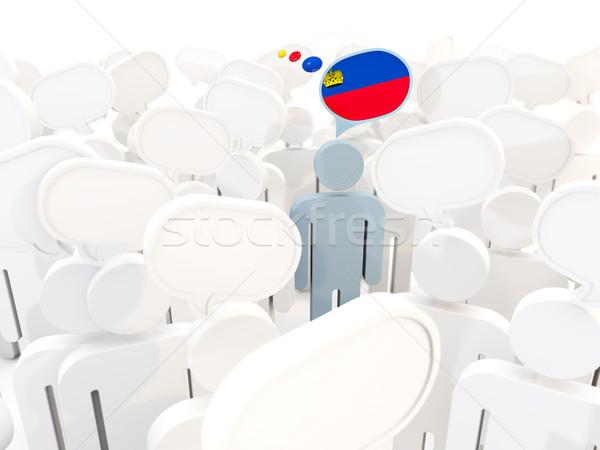 Man with flag of liechtenstein in a crowd Stock photo © MikhailMishchenko
