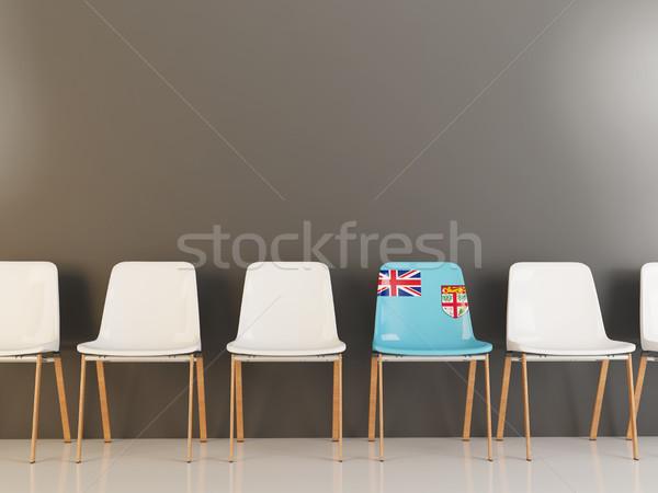 椅子 フラグ フィジー 白 チェア ストックフォト © MikhailMishchenko