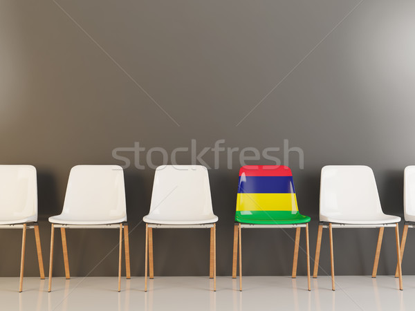 Chair with flag of mauritius Stock photo © MikhailMishchenko