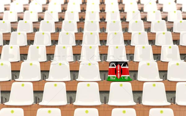 Stadyum koltuk bayrak Kenya beyaz Stok fotoğraf © MikhailMishchenko