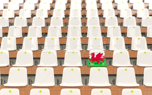 Stadium seat with flag of wales Stock photo © MikhailMishchenko