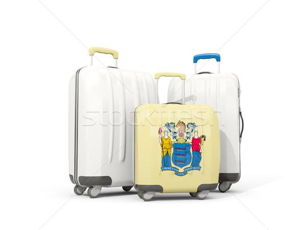 Bagage vlag New Jersey drie zakken Verenigde Staten Stockfoto © MikhailMishchenko