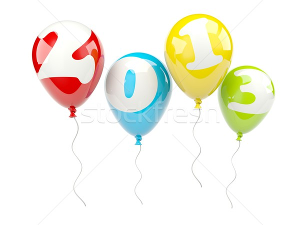 Air balloons with 2013 New Year sign Stock photo © MikhailMishchenko