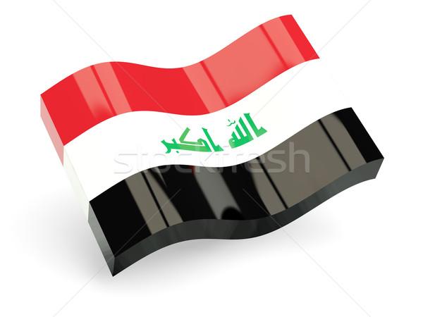 3D vlag Irak geïsoleerd witte golf Stockfoto © MikhailMishchenko