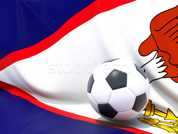 Bandeira Samoa Americana futebol equipe país Foto stock © MikhailMishchenko