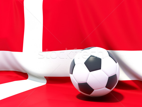 Flag of denmark with football in front of it Stock photo © MikhailMishchenko
