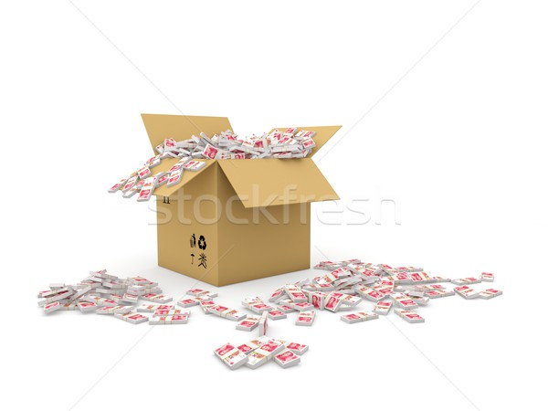 Box full of yuans Stock photo © MikhailMishchenko
