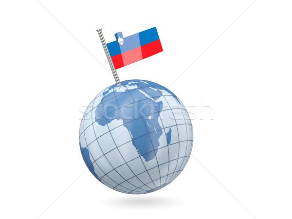мира флаг Словения синий изолированный белый Сток-фото © MikhailMishchenko