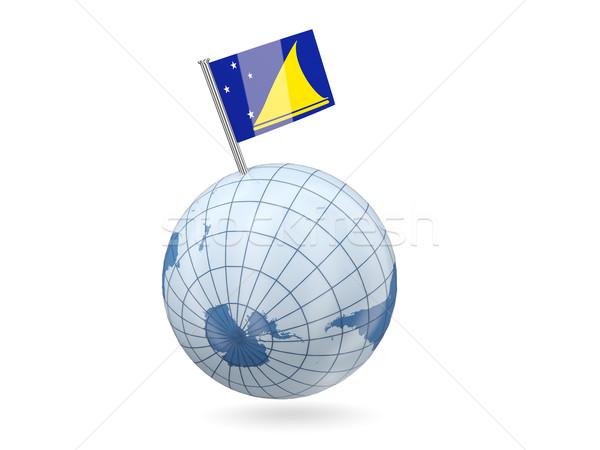 мира флаг синий изолированный белый Мир Сток-фото © MikhailMishchenko