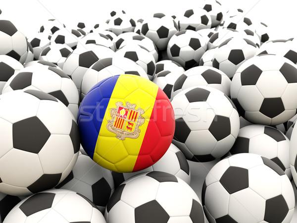 Voetbal vlag Andorra regelmatig zomer Stockfoto © MikhailMishchenko