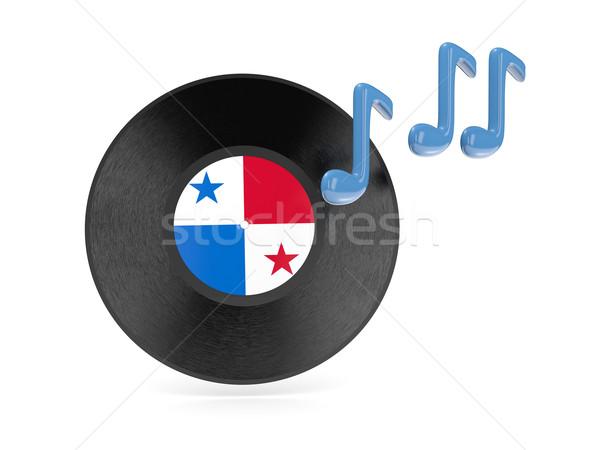 Vinyl schijf vlag Panama geïsoleerd witte Stockfoto © MikhailMishchenko