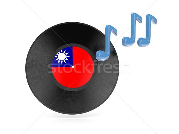 Vinyl schijf vlag republiek China geïsoleerd Stockfoto © MikhailMishchenko