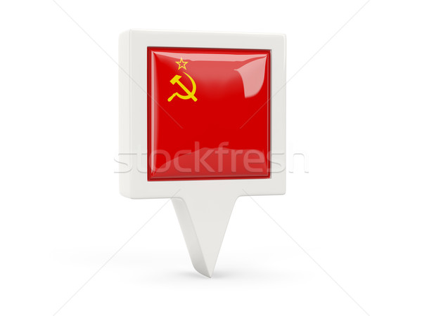 Square flag icon of ussr Stock photo © MikhailMishchenko