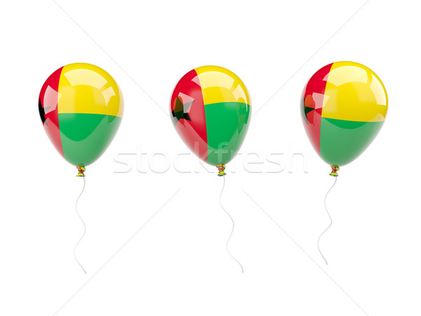 Air balloons with flag of guinea bissau Stock photo © MikhailMishchenko