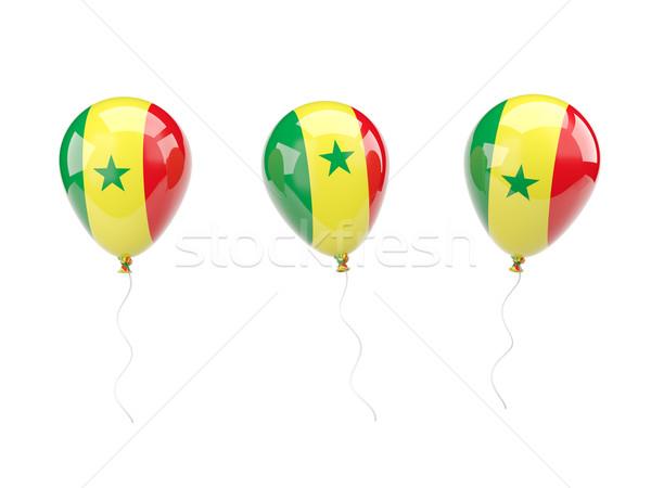 Levegő léggömbök zászló Szenegál izolált fehér Stock fotó © MikhailMishchenko