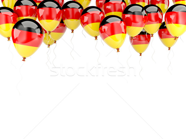 Balloon frame with flag of germany Stock photo © MikhailMishchenko