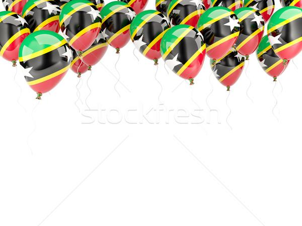 Ballon frame vlag geïsoleerd witte Stockfoto © MikhailMishchenko