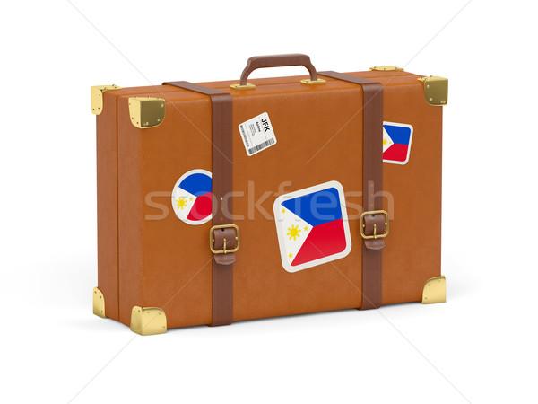 Suitcase with flag of philippines Stock photo © MikhailMishchenko