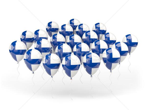 Balões bandeira Finlândia isolado branco país Foto stock © MikhailMishchenko