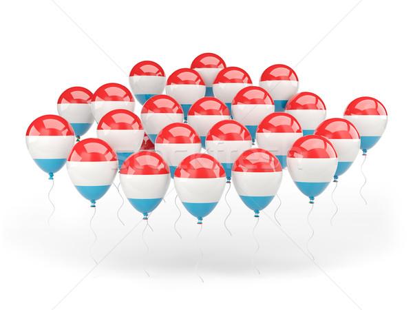 Ballonnen vlag Luxemburg geïsoleerd witte land Stockfoto © MikhailMishchenko