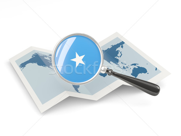 флаг Сомали карта белый Сток-фото © MikhailMishchenko