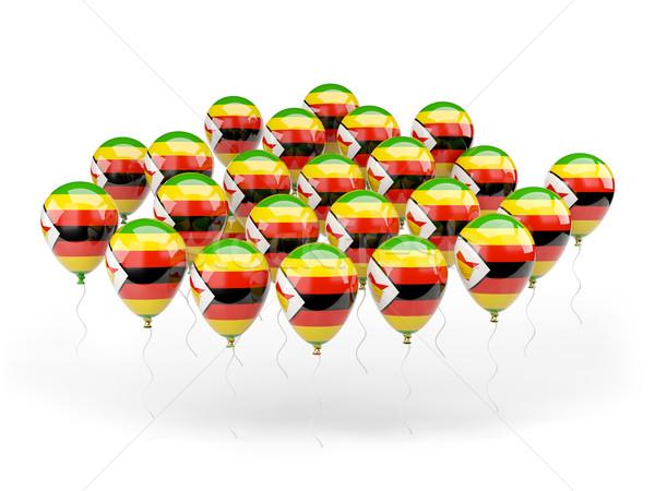 Léggömbök zászló Zimbabwe izolált fehér vidék Stock fotó © MikhailMishchenko