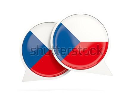 Carré icône pavillon blanche pays bouton Photo stock © MikhailMishchenko