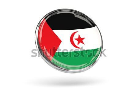 Stock fotó: Ikon · zászló · western · Szahara · izolált · fehér