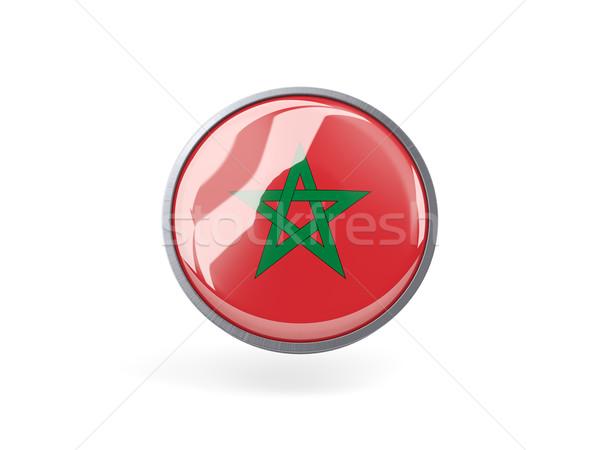 Round icon with flag of morocco Stock photo © MikhailMishchenko