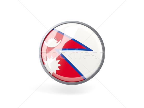 Round icon with flag of nepal Stock photo © MikhailMishchenko