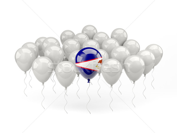 Air balloons with flag of american samoa Stock photo © MikhailMishchenko
