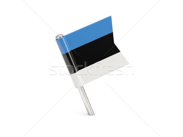флаг Pin Эстония изолированный белый Сток-фото © MikhailMishchenko