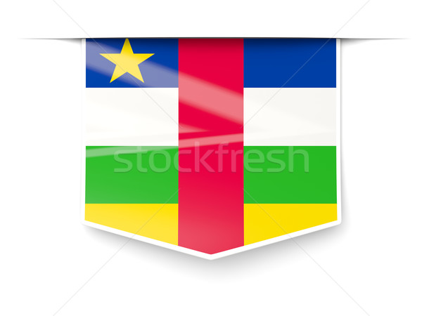 Square label with flag of central african republic Stock photo © MikhailMishchenko