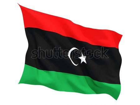 Banderą Libia odizolowany biały Zdjęcia stock © MikhailMishchenko
