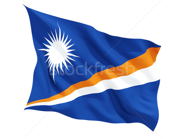 Waving flag of marshall islands Stock photo © MikhailMishchenko