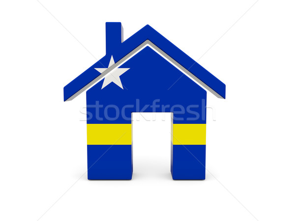 Home with flag of curacao Stock photo © MikhailMishchenko
