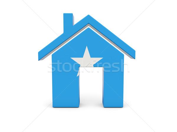 Domu banderą Somali odizolowany biały kraju Zdjęcia stock © MikhailMishchenko