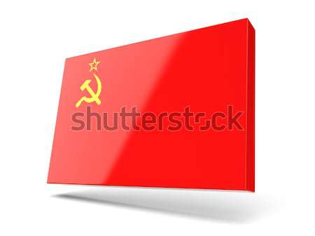Square label with flag of ussr Stock photo © MikhailMishchenko