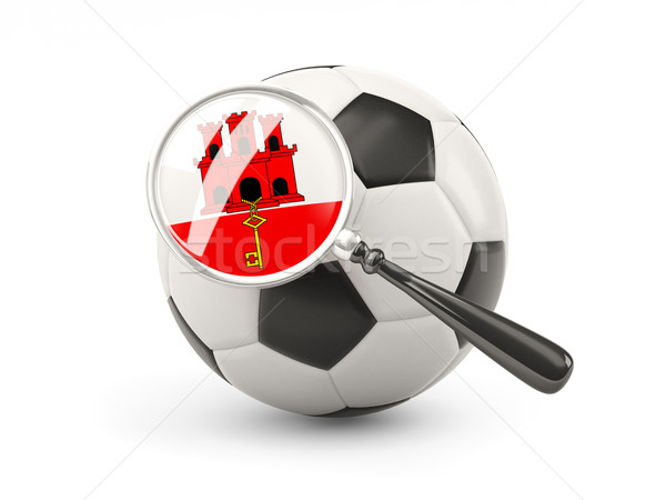 Football with magnified flag of gibraltar Stock photo © MikhailMishchenko